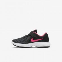 Nike Revolution 4 Running Shoes Girls Black/White/Pink KO6153FX