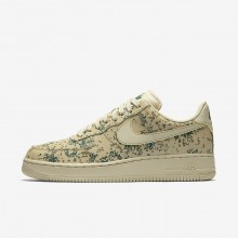 Nike Air Force 1 Lifestyle Shoes Mens Gold Beige/Green/Gold KU7832KL