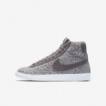 Nike Blazer Mid Lifestyle Shoes Girls Grey/Light Brown/White KV2885EM