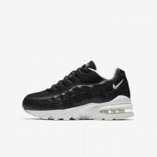 Nike Air Max 95 Lifestyle Shoes Boys Black/White KY2389SW
