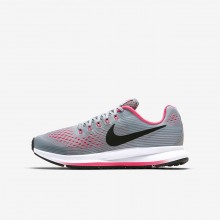 Nike Zoom Running Shoes Girls Grey/Pink/Black LD9542SW