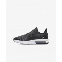 Nike Air Max Sequent 3 Running Shoes Boys Black/Dark Grey/White/Metallic LE3755JQ