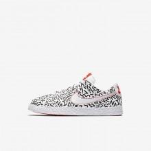 Nike Blazer Lifestyle Shoes Boys White/Black/Light Red/White LJ6442HA