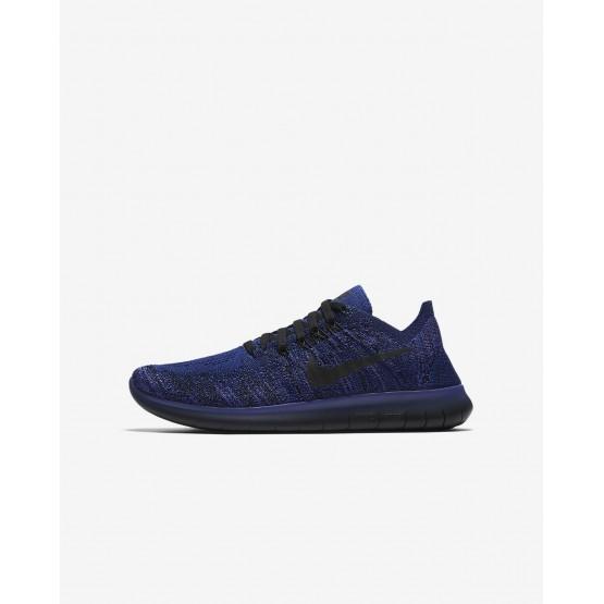 Nike Free RN Flyknit Running Shoes Boys Royal/Purple/Pink/Black LR8939NJ