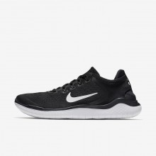 Nike Free RN 2018 Running Shoes Mens Black/White MA6019IQ