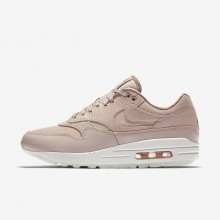 Nike Air Max 1 Lifestyle Shoes Womens Beige/Pink/White/Beige MG4775ON
