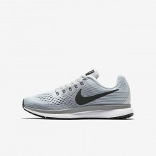 Nike Zoom Running Shoes Boys Platinum/Grey/Dark Grey MK9234UJ