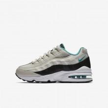 Nike Air Max 95 Lifestyle Shoes Boys Black/White/Turquoise ML2848QC