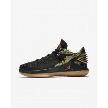 Air Jordan XXXII Low Basketball Shoes Mens Black/White/Metallic Gold MW5577IJ