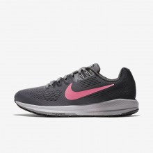 Nike Air Zoom Running Shoes Womens Dark Grey/Orange NG1714BS