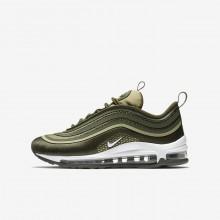 Nike Air Max 97 Ultra Lifestyle Shoes Boys Khaki/Olive/White NP1507RC