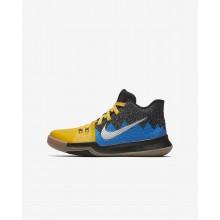 Nike Kyrie 3 Basketball Shoes Girls Gold/Black/Blue OZ6379MW
