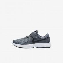 Nike Revolution 4 Running Shoes Girls Dark Grey/White/Black PD9627MT