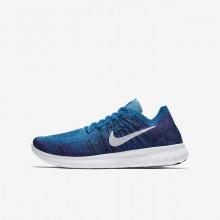 Nike Free RN Flyknit Running Shoes Boys Blue/Black/Purple/Platinum PH2909SG