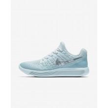 Nike LunarEpic Low Flyknit 2 Running Shoes Womens Blue/Grey/Metallic Silver PK6670PS