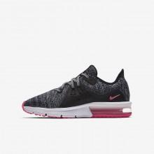 Nike Air Max Sequent 3 Running Shoes Girls Black/Dark Grey/Pink PV4459XB