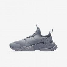 Nike Huarache Lifestyle Shoes Boys Grey/White PW2645RI