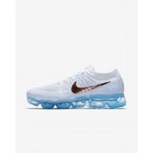 Nike Air VaporMax Flyknit Running Shoes Womens White/Blue/Platinum/Metallic Red QG3534PX