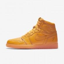 Air Jordan 1 Retro High OG Lifestyle Shoes Mens Orange QH3774GO