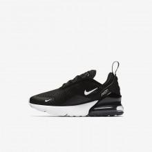 Nike Air Max 270 Lifestyle Shoes Boys Black/Dark Grey/White QJ7690LS