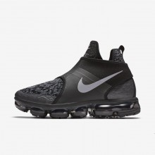 Nike Air VaporMax Lifestyle Shoes Mens Black/Dark Grey/Orange/Silver QL5550FU