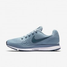 Nike Air Zoom Running Shoes Womens Light Turquoise/Black/Blue QW2940CM