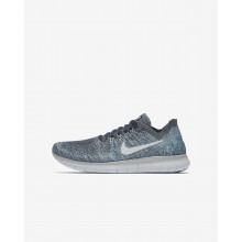 Nike Free RN Flyknit Running Shoes Boys Blue/Grey/White/Platinum RC9162YF
