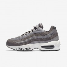 Nike Air Max 95 Lifestyle Shoes Womens Grey/White RE6350WC