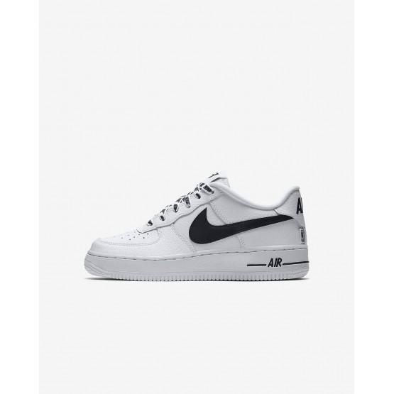 Nike Air Force 1 Lifestyle Shoes Boys White/Black RH4352VL