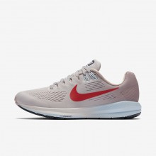 Nike Air Zoom Running Shoes Womens Grey/Rose/Red RN3089MJ