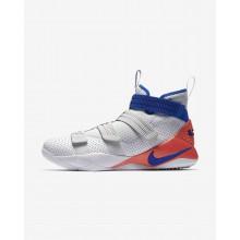 Nike LeBron Soldier XI Basketball Shoes Womens White/Red/Platinum/Blue RN9536QM