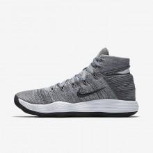 Nike React Hyperdunk 2017 Flyknit Basketball Shoes Womens Grey/Platinum/White/Dark Grey RO6081NU