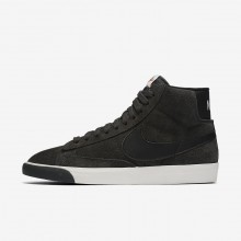 Nike Blazer Mid Lifestyle Shoes Womens Dark Grey/White/Brown/Black RP1174LI