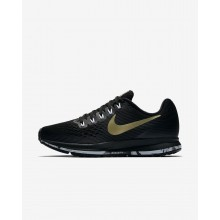 Nike Air Zoom Running Shoes Womens Black/Dark Grey/White/Metallic Gold SC2948QM