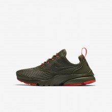 Nike Presto Fly Lifestyle Shoes Boys Olive/Red SN3774EL