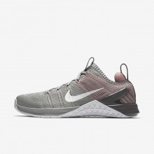 Nike Metcon DSX Flyknit 2 Training Shoes Womens Silver/Pink/White SZ7209BT