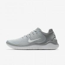 Nike Free RN 2018 Running Shoes Mens Grey/White TP9798MJ
