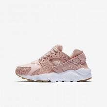 Nike Huarache Lifestyle Shoes Girls Coral/Light Brown/White/Pink TS3648AZ