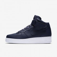 Nike Air Force 1 Lifestyle Shoes Mens Obsidian/White/Obsidian TV1139XM