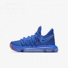 Nike Zoom KDX Basketball Shoes Boys Blue/Black/Red UE9583OD