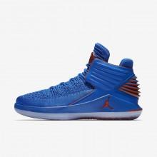 Air Jordan XXXII Basketball Shoes Mens Blue/Metallic Silver/Orange UJ7162MN