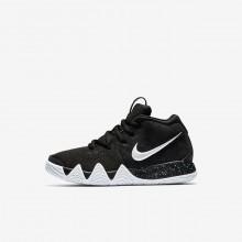 Nike Kyrie 4 Basketball Shoes Girls Black/Dark Grey/Light Blue/White UM9838EX