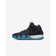 Nike Kyrie 4 Basketball Shoes Boys Dark Obsidian/Black UO3911FG