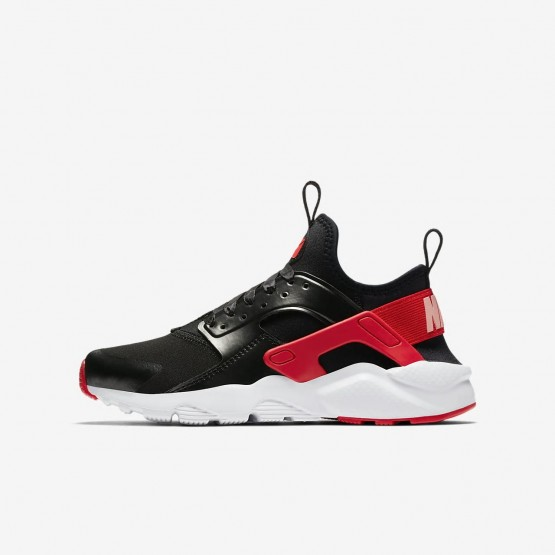 Nike Air Huarache Lifestyle Shoes Girls Black/Coral/Red US4897JM