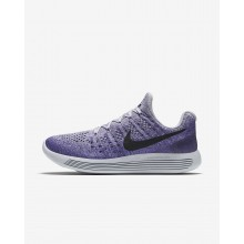 Nike LunarEpic Low Flyknit 2 Running Shoes For Women Grey/Purple/Black UZ9682EI