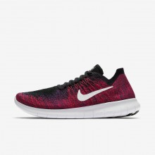 Nike Free RN Flyknit Running Shoes For Boys Black/Red/Platinum VL3052DL