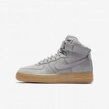 Nike Air Force 1 Lifestyle Shoes Boys Grey/Black/Light Brown/Grey VL6598FB