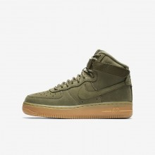 Nike Air Force 1 Lifestyle Shoes Boys Olive/Light Brown/Black/Olive VT5531PL