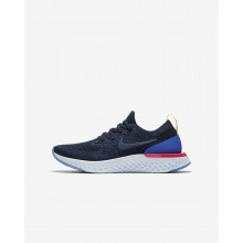 Nike Epic React Flyknit Running Shoes For Boys Navy/Blue/Pink/Navy VU4626KV