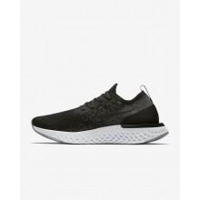 Nike Epic React Flyknit Running Shoes Womens Black/Dark Grey/White VU5206PK